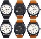 CURREN Mens Army Sport Military Leather Quartz Watch ( Set of 6 pcs )