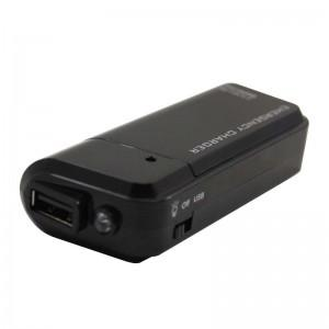 Portable AA Battery Emergency Charger with Flashlight for Smartphones