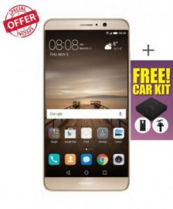 Huawei Mate 9 64GB 20MP 4G LTE 5.9-inch-Gold With Free Car Kit and Cover