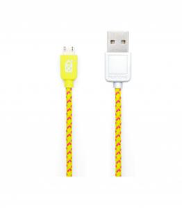 Pantone 2m Fabric Micro USB Cable
