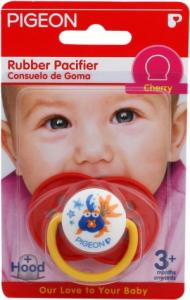 Pigeon Rubber Pacifier Orthodontic RG-2 Cherry/Red