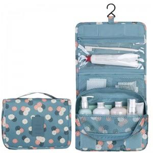 Portable Travel Hanging bag with hook / Toiletry Organizer Cosmetic Bag For Women