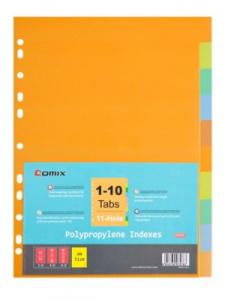 Comix -Subject Divider 10 Tabs Color