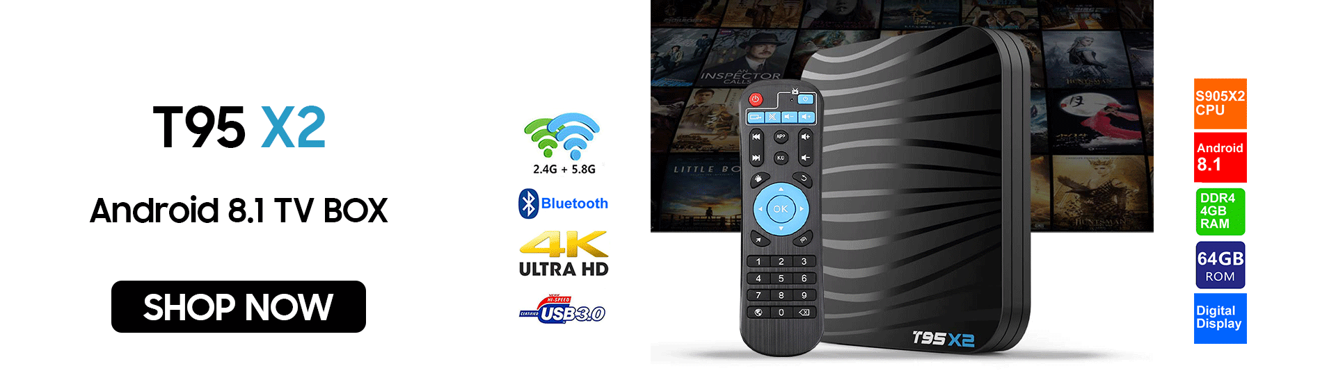 T95X2 Android 8.1 TV BOX