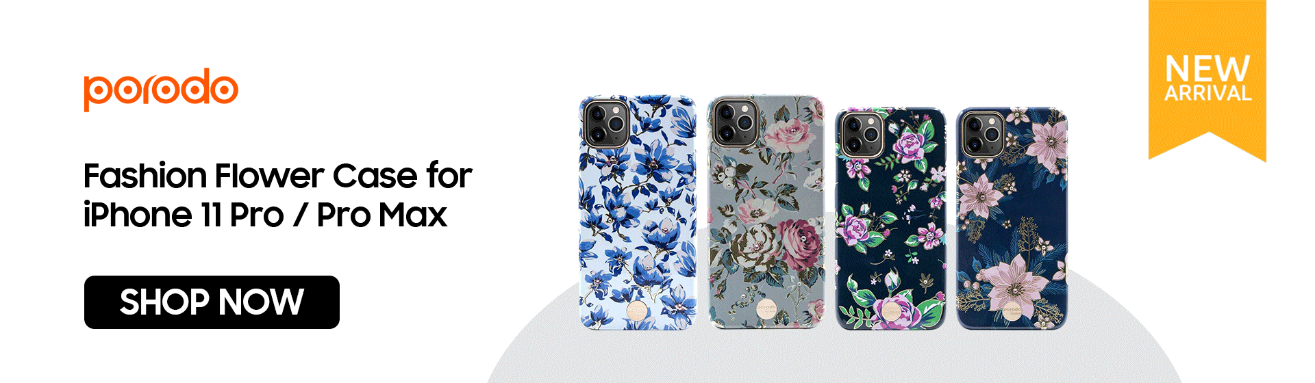 Porodo Fashion Flower Case for iPhone 11 / 11 Pro / Pro Max