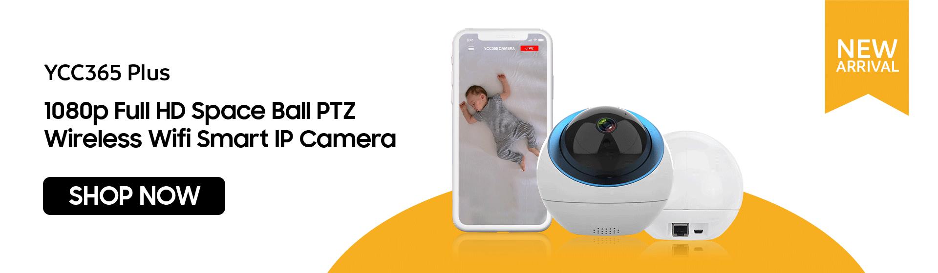 YCC365 Plus 1080p Full HD Space Ball PTZ Wireless Wifi Smart IP Camera